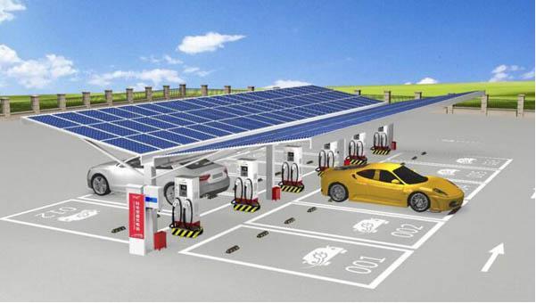山西省内首座风光充储一体化示范充电站开建