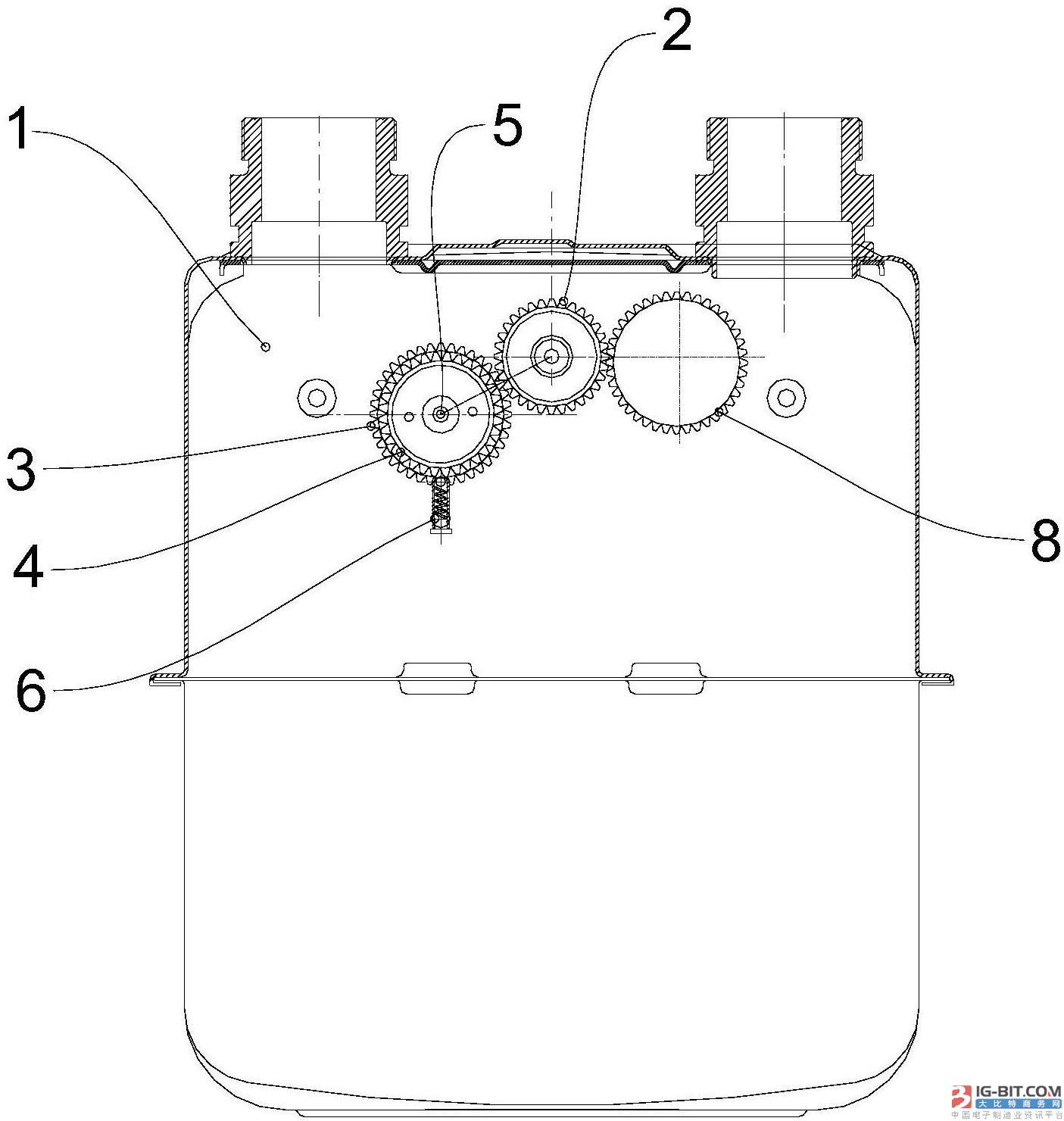 【仪表专利】一种燃气表计数机构及燃气表