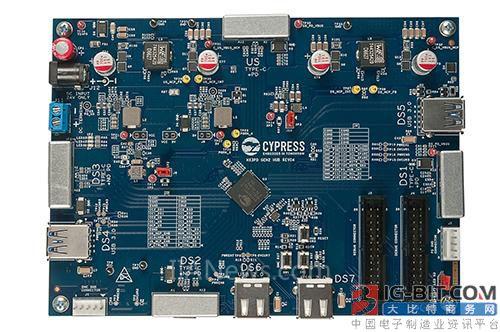 赛普拉斯推出业界首款支持USB PD的七端口USB-C Hub控制器