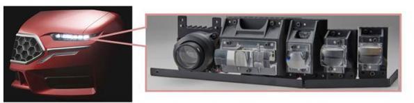 三菱电机研发LED前照灯光学模块