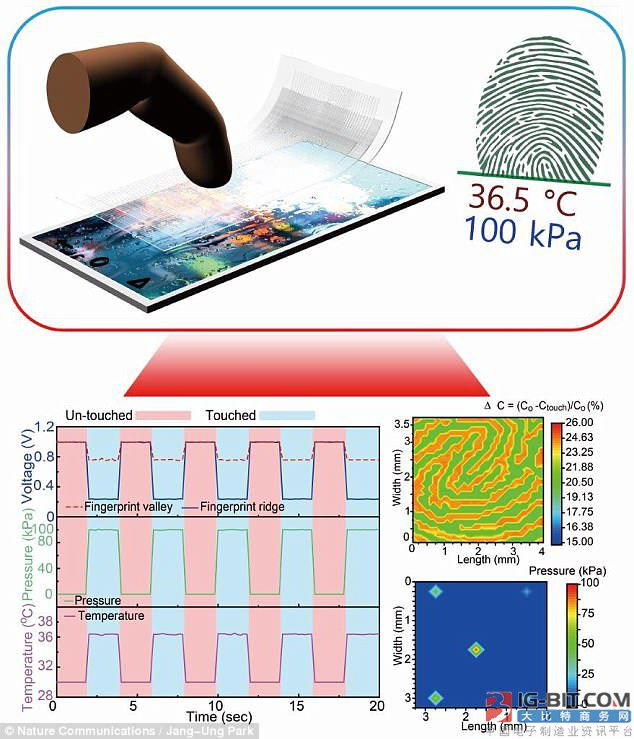 Sensor of transparent electrode dactylogram comes out the new method that implements the dactylogram below screen