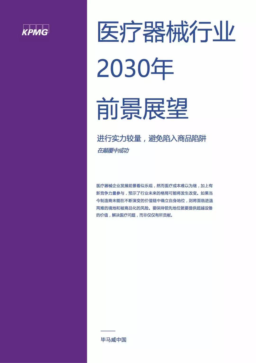 重磅!未来十年医疗器械行业发展前景解析