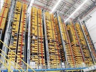 国内首例立体高密度机器人智能仓启动