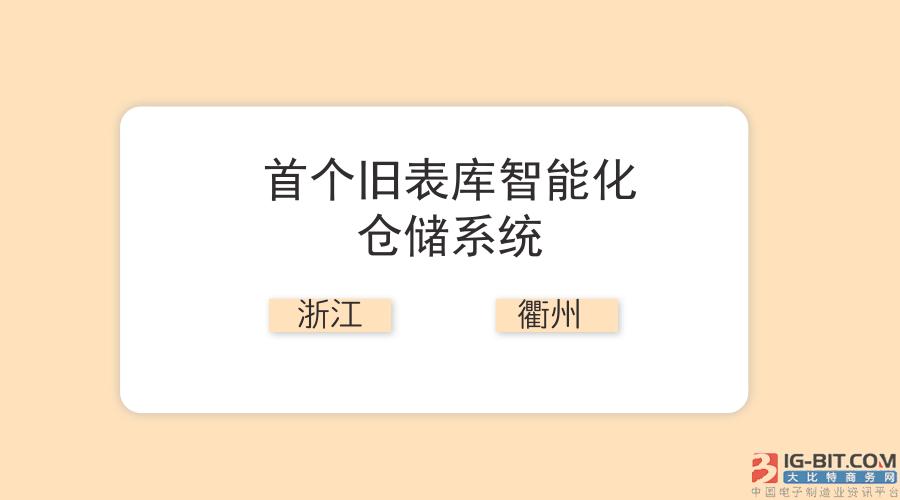 浙江衢州公司上线首个旧表库智能仓储系统