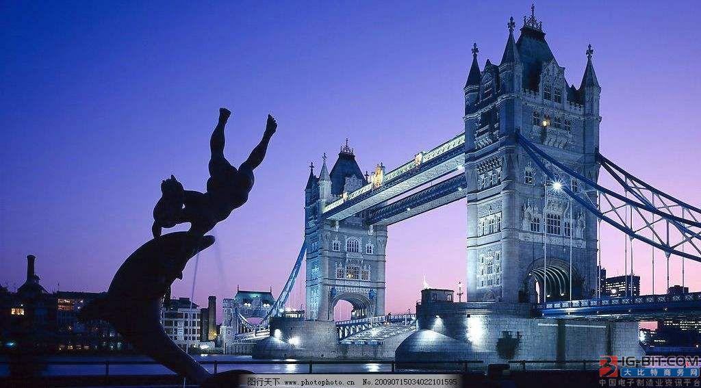 伦敦几座桥梁将安装新LED照明,能耗及维护成本双降