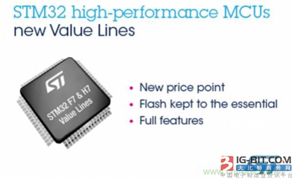 ST 推出 STM32F7x0 和 H7x0 超值系列微控制器