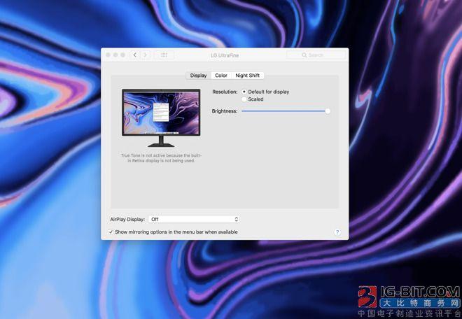 新款MacBook Pro支持外接原彩显示 但使用时不要合上盖子