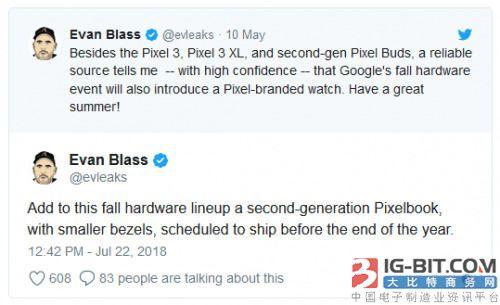 谷歌准备了第二代笔记本PixelBook 2产品