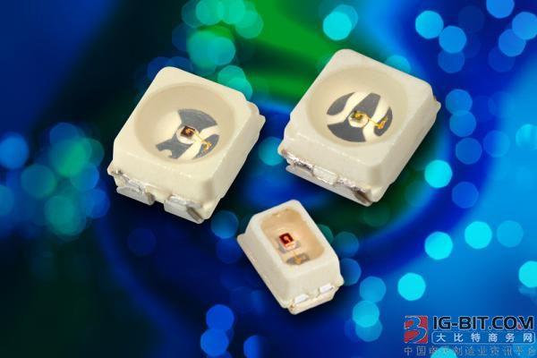 Vishay推出具有最小外形尺寸和最新AllnGaP技术的新款汽车级电源指示LED