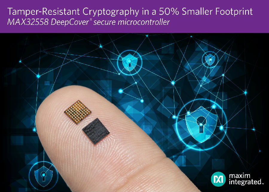 Maxim发布最新安全微控制器,支持高级加密、密钥存储和篡改检测
