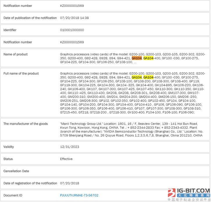 万丽显卡披露GTX2080/2070、GA104:官方否认