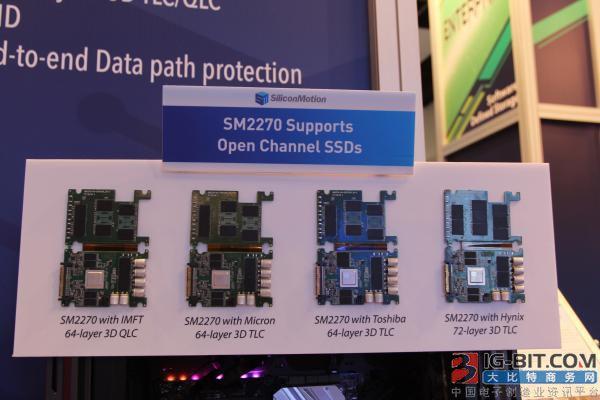 慧荣科技在2018年闪存峰会展出SM2270产品