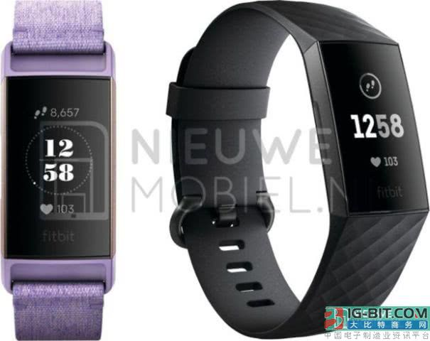 Fitbit Charge 3运动手环谍照及规格全面曝光