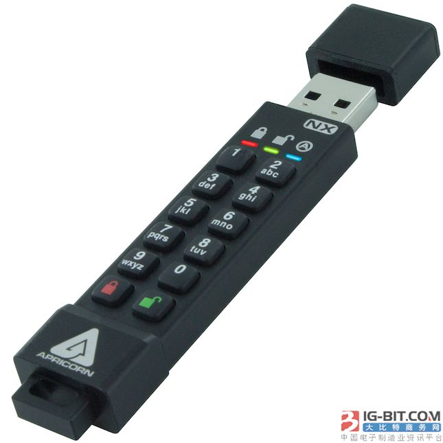 Apricorn推出Aegis Secure Key 3NX 256位AES XTS硬件加密U盘