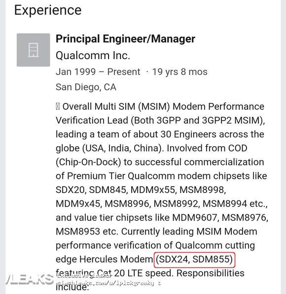 高通骁龙855处理器将成为安卓产品标配,仍不支持5G