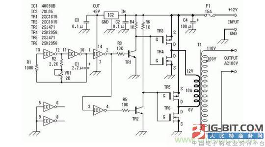 逆变器工作原理以及典型电路分析