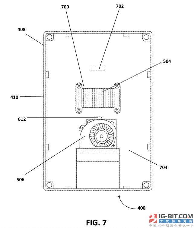 微软专利:给移动计算设备降温的散热器