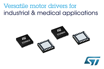 意法半导体发布新款STSPIN电机驱动器