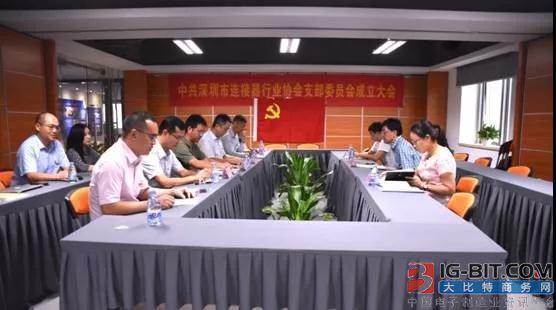 深圳市连接器行业协会党支部成立
