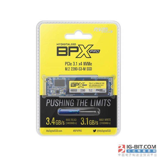MyDigitialSSD推出BPX Pro新品:读速3400MB/s