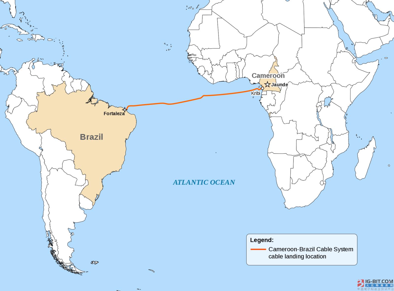 喀麦隆-巴西海底光缆系统完成海底部分铺设