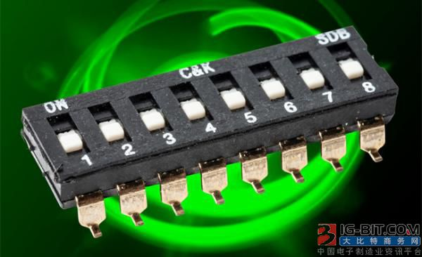 C&K 推出长工作寿命, 超薄的新 SDB 拨码开关, 为印刷电路板节省空间