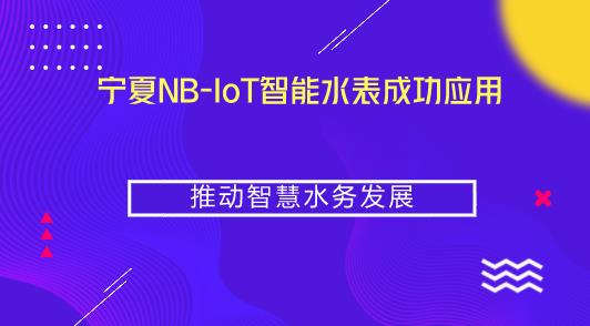宁夏NB-IoT智能水表成功应用 推动智慧水务发展