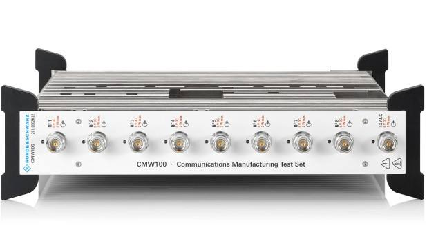 Instrument of R&S CMW100 wireless communication supports the mass production of 5G NR equipment