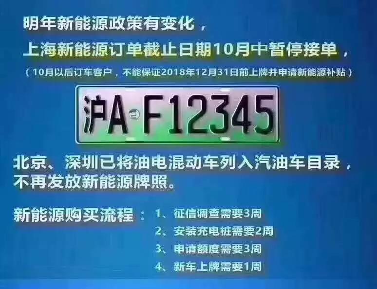 上海新能源取消插混?新能源政策管三年!