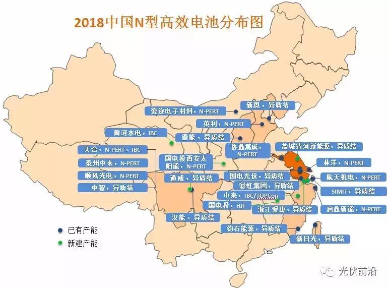预计2018年中国N型电池产能7.5GW N型硅片市场占有率增加