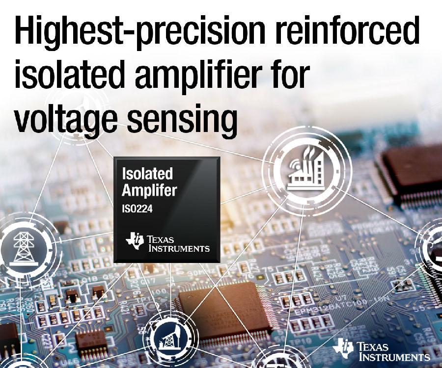 TI精度最高的增强型隔离放大器可在工业电压检测应用中实现极长的使用寿命