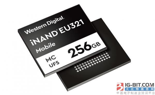 西部数据发布面向高端智能手机的96层3D NAND UFS 2.1嵌入式闪存盘