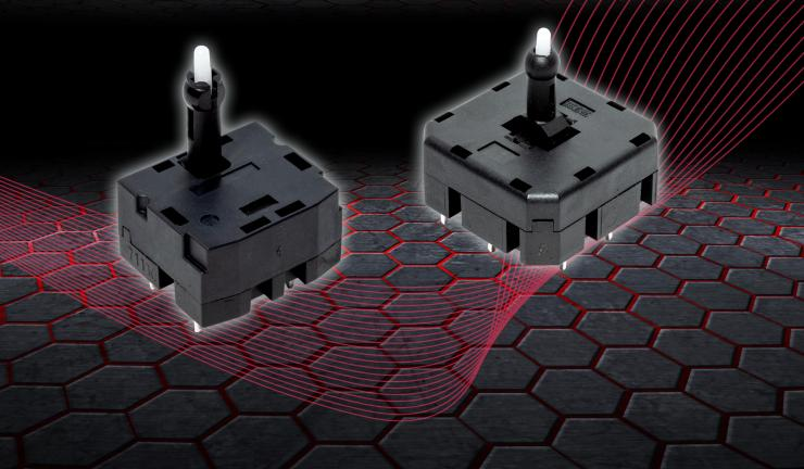 C&K 推出坚固的多功能 SAM 系列多向开关, 可轻松集成到汽车和工业设备中