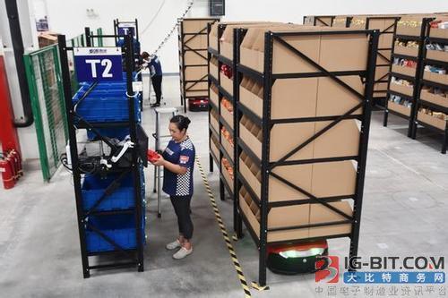 国美AGV机器人投入使用,作业时间整体缩短近30%