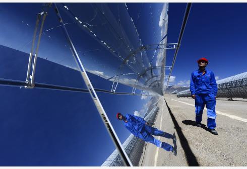我国首个大型太阳能光热示范电站正式投运