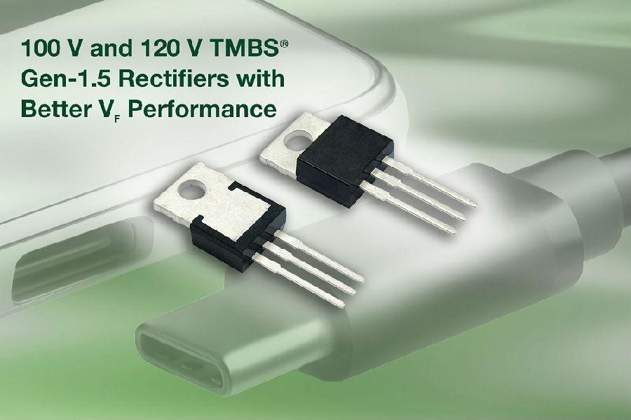 Vishay全新100V和120V TMBS®整流器提供低至0.36 V的正向压降