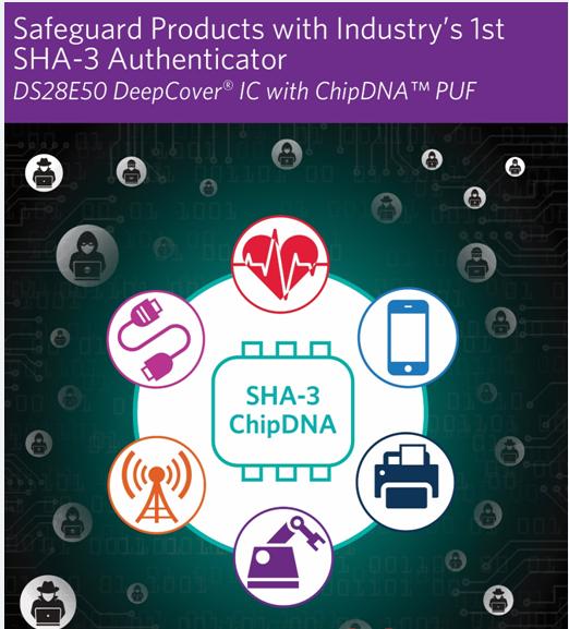 Maxim发布业界首款支持SHA3-256加密引擎的安全认证器IC