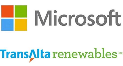 微软与TransAlta合作 投资宾州可再生风能资源
