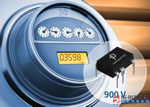 Power Integrations发布集成了900V MOSFET的高效率反激式开关电源IC