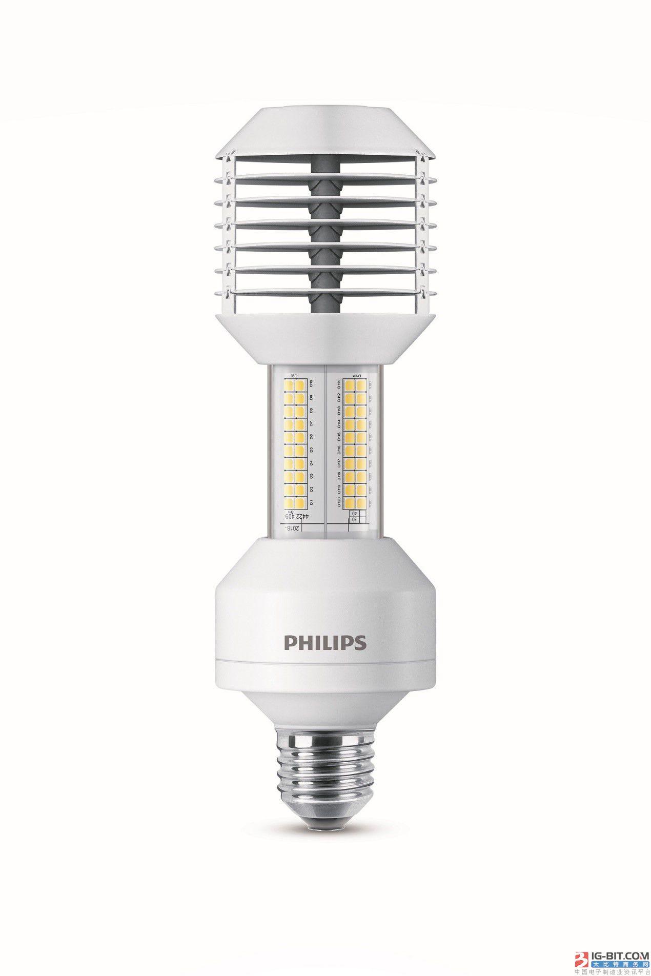原位替换传统高压钠灯,飞利浦LED路灯抢攻市场
