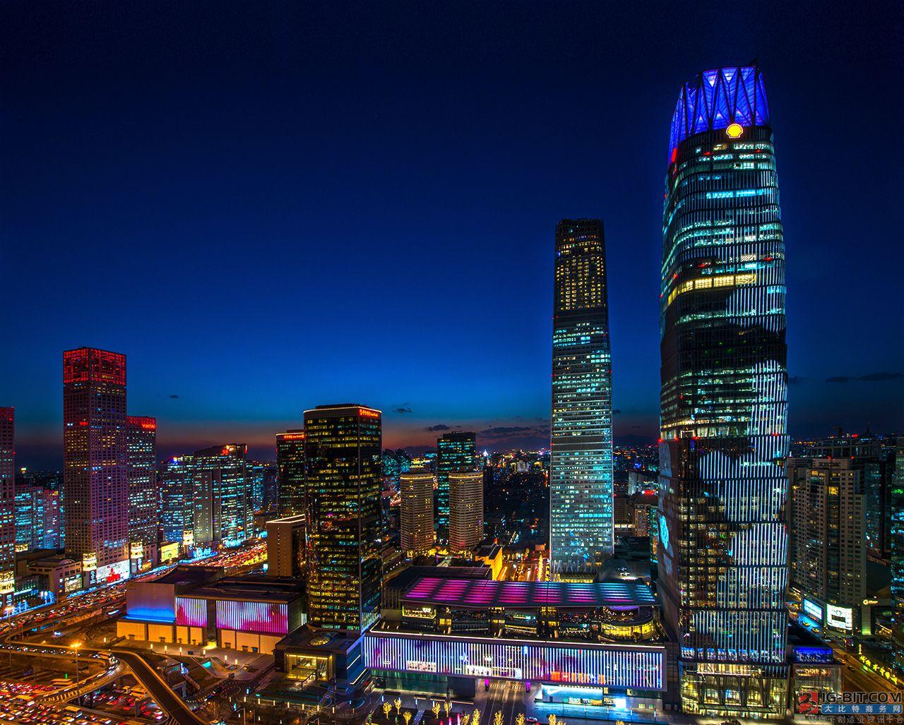 昕诺飞点亮中国国际贸易中心 打造全球领先中央商务区