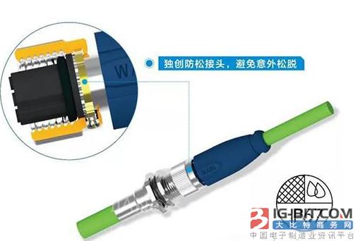 唯恩电气推出M12-D Code防松圆形连接器