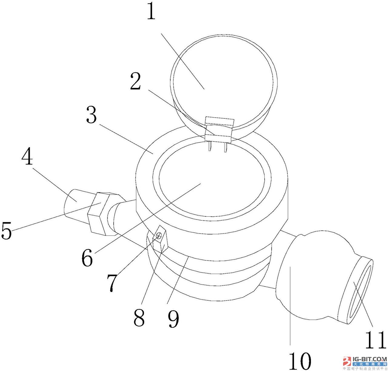 【仪表专利】基于物联网的智能水表
