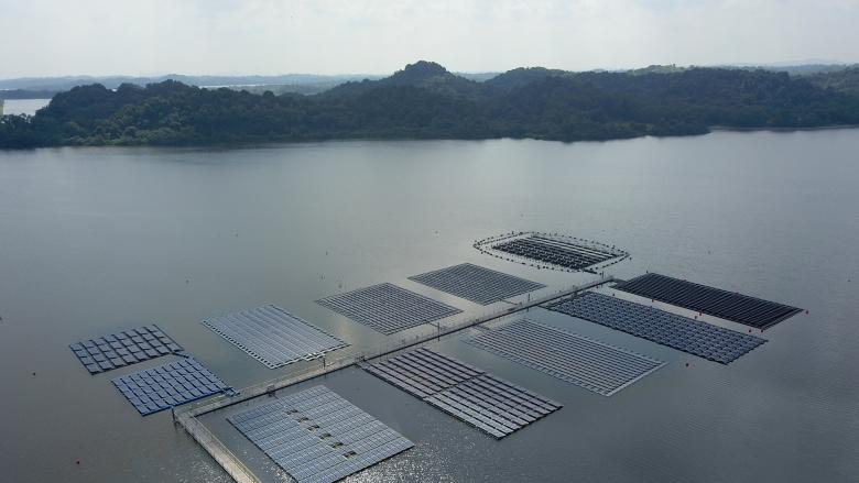 截止9月全球浮式光伏电站装机累计达1.1GW