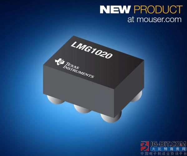 贸泽开售Texas Instruments LMG1020低侧GaN驱动器 为高速LiDAR和TOF应用提供理想选择