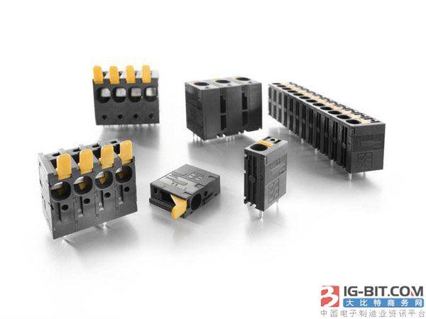魏德米勒LUF及LLF系列直插式电源端子可免工具接线