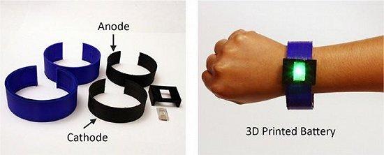 3D打印技术有望打破电池应用局限性