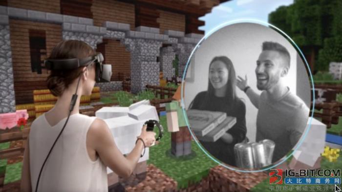 微软新专利:允许VR佩戴者看到部分现实世界