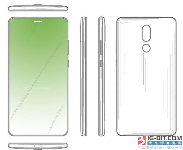 华为全面屏手机新专利曝光:听筒在屏内