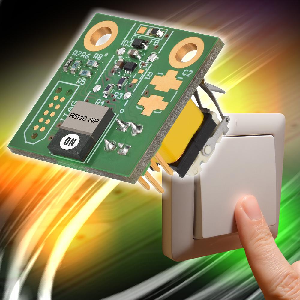安森美半导体基于超低功耗的RSL10 SIP  提供能量采集蓝牙低功耗开关
